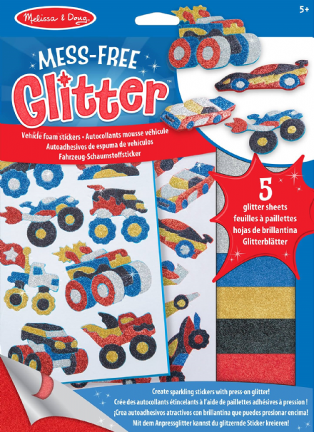 Melissa & Doug Mess Free Glitter - Vehicle Foam